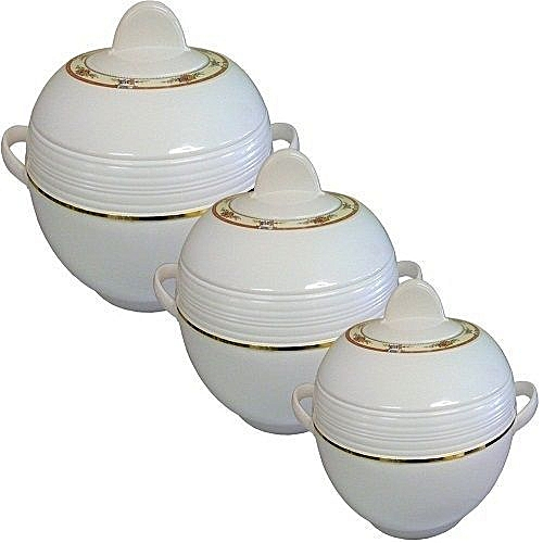 3pc Heat Insulated Round Food Storage Casserole Set