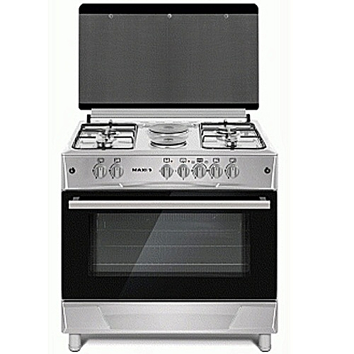 Maxi Gas Cooker 60*90 (4 Gas Burner + 2 Electric Plate ) INOX