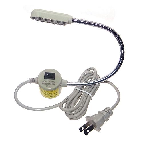 Gooseneck Lamp Sewing Machine Light Magnetic Mounting AC110-250V Beige White
