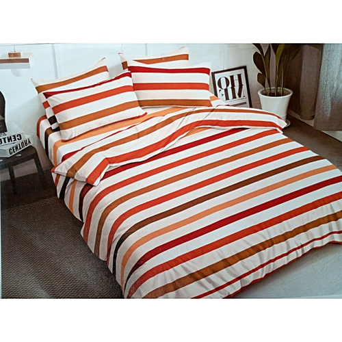 Coloured Stripe Bedsheet And Pillow Cases