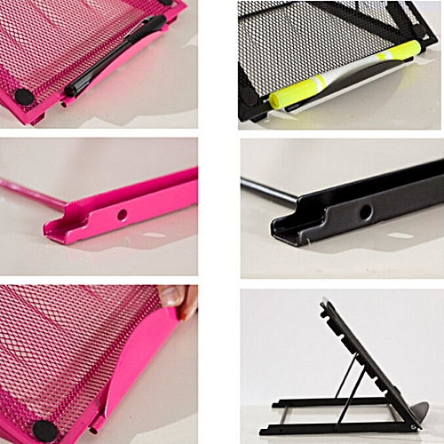 Muliawu Store Mesh Ventilated Adjustable Laptop Stand For Laptop / Notebook / IPad / Tablet-black