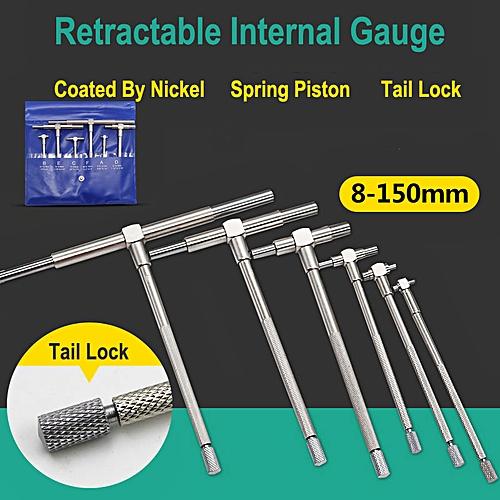 6pcs 8-150mm Telescopic Gauge Set Internal Inner Gauge Tool