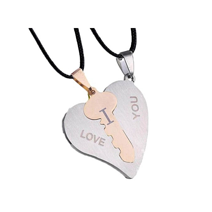 Buy fashion new silver plated heart puzzle key couple necklace heart new silver plated heart puzzle key couple necklace heart lock couple pendant necklace aloadofball Gallery