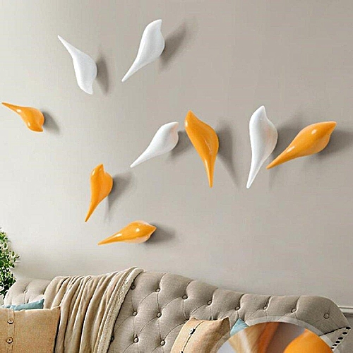 KCASA KC-488 Bird Shape 3D Wall Hooks Resin Bird Decoration Coat Towel Hook Single Wall Hanger