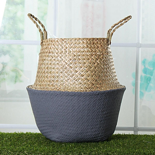Seagrass Belly Basket Storage Plant Pot Foldable Nursery Laundry Bag