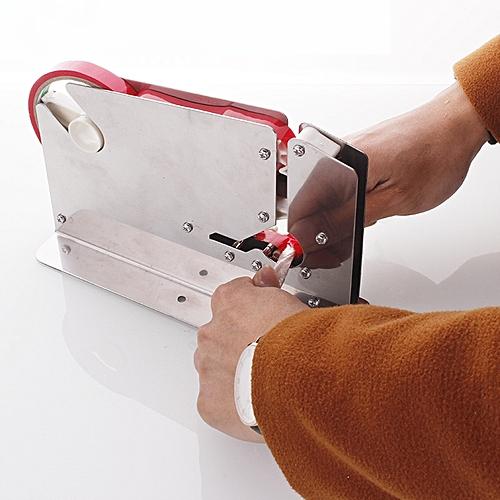 JIQI Stainless Steel Supermarket Plastic Bag Sealing Machine Portable Tape Cutter Dispenser