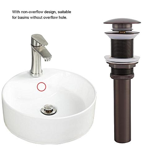 "G1 1/4"" Brass Bathroom Basin Sink Pop Up Drain Assembly Non-Overflow"