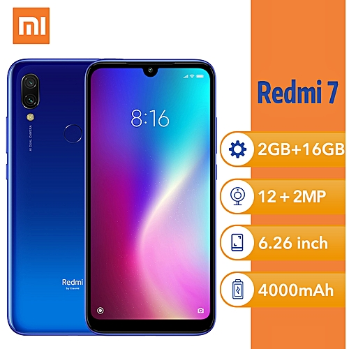 "Redmi 7 6.26""(2GB, 16GB ROM) Android 12MP + 2MP-Blue"