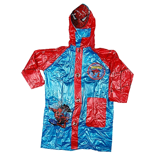 limited quantity limited quantity fashionable patterns Boys' Rain Coat - Blue/Red