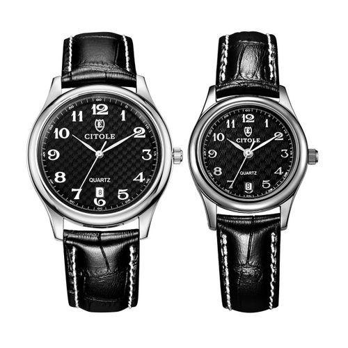 Louis Will Kobwa CITOLE Genuine Quartz Watches Couple Watches Fashion Business Digital Leather Men And Women