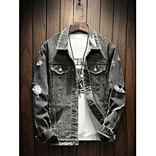 Honey 2019 New Hip Hop Denim Jacket Set Fashion Mens Autumn Slim Denim Jacket Retro Motorcycle Tooling Jumpsuit M--xxl Men's Clothing Cargo Pants