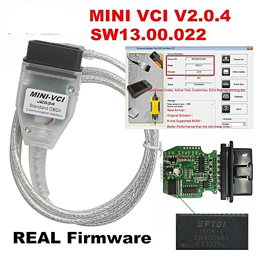 Mini Vci Version 13 00 22 Toyota Techstream Mongoose Cable