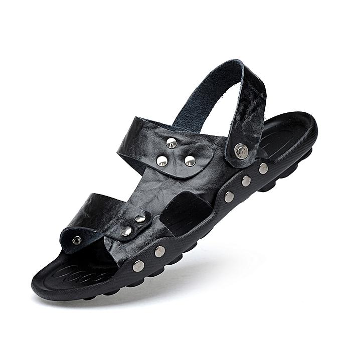 aec1b0fc137c EUR Size 36-47 Men Sandals Men Summer Shoes Full Grain Leather Men Beach  Sandals