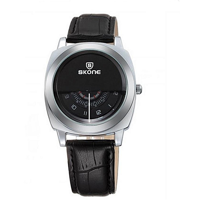 Skone Unique Dial Movement Wristwatch bl9244 - Black