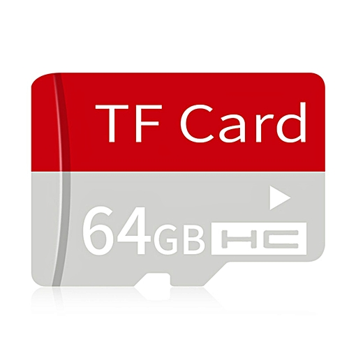 OR Ultra High Speed Small Size TF Card Memory With Adapter For Smartphones-red-64G