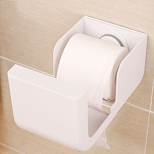 Plastic Seamless Sucker Cup Paper Rack Comprehensive Waterproof Tissue Box Holder