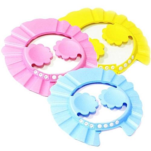 Adjustable Baby Shower Head Plum Ear Shower Cap