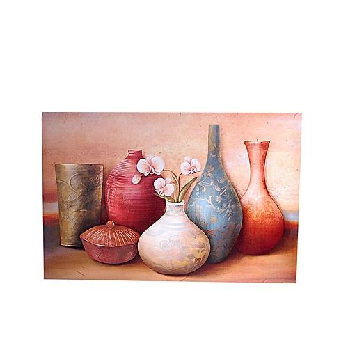 Vienna Vase Design Frameless Painting - 60 X 40cm