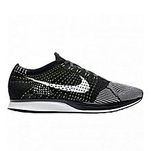 1dc816eb97ab Nike Men Flyknit Racer OREO VOLT BLACK WHITE 526628-011