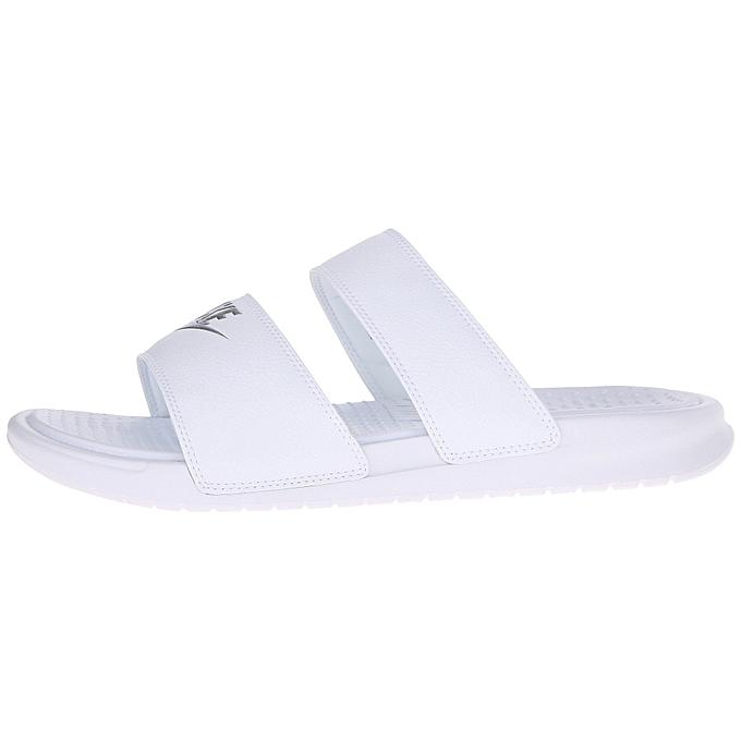 0e1e8e4af1e0 ... Nike Benassi Duo Ultra Slide - White Metallic Silver ...