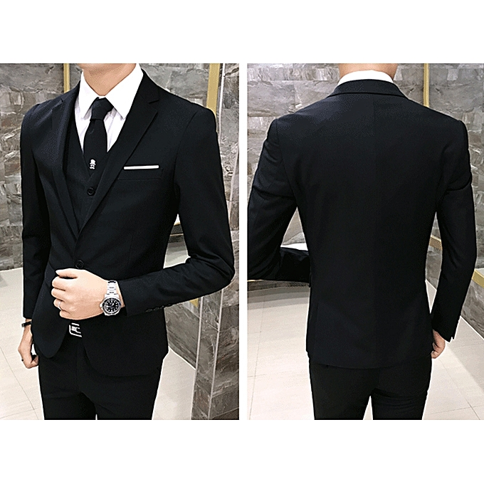587b6724dadc ... Male 3 Piece Suit Set Mens Commercial Formal Slim Suits Groom Wedding  Dress Suit For Men ...