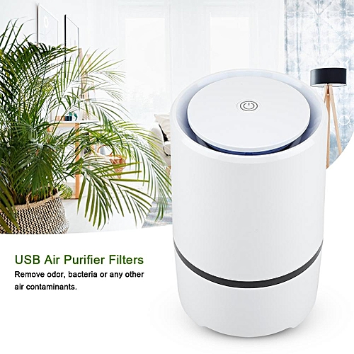 Sweetbaby USB Air Purifier Hepa And Active Carbon Filters Odor Allergies Eliminator For Home Office Dust