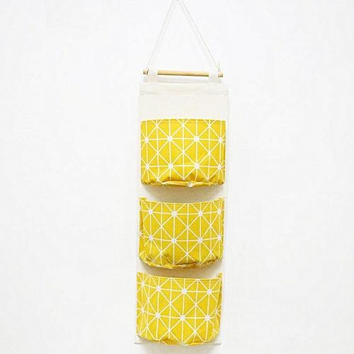 Eleganya Practical Home Simple Printing Multi-layer Hanging-type Waterproof Storage Bag