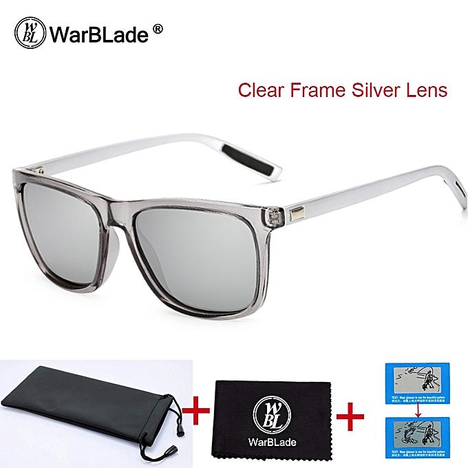f53a2d8166dd1 Warblade Unisex Square Polarized Sunglasses Mirror Lens Retro Sun Glasses  For Men Women Polaroid Sunglasses Uv400