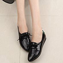 f13faddcd66fe9 Women Four Seasons Single Shoes Casual Comfort Shoes Flat Shoes-Black (EU  Sizing)