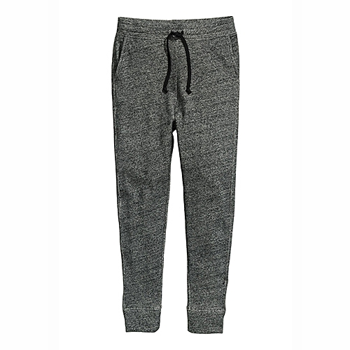 Sweatpants With Drawstring - Dark Grey