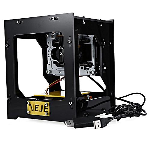 NEJE Fancy Laser Engraving Printer Machine 5V 300mW For Hard Wood / Plastic - Yellow + Black