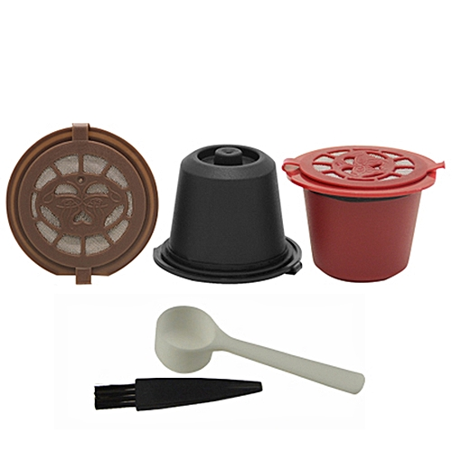3pcs/set Reusable Nespresso Coffee Capsule Filter Kitchen