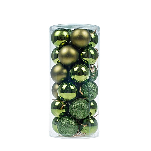 Christmas Baubles Tree Balls Decorations Ornament Xmas Tree Festival Party Pendant Baubles,24pcs,4cm,Green