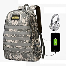 ee8a7655099 Anti Theft Bag With Headset Jack Port + USB Charging Port Camouflage  Tactical Backpack Travel Bag