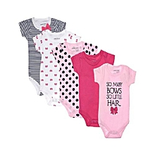 3c8e3dad0018 Bodysuit 5 In1 Pack For Baby Girls