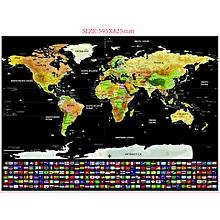 Travel Creative Fog Map Scratch World Map Global Travel Map for sale  Nigeria