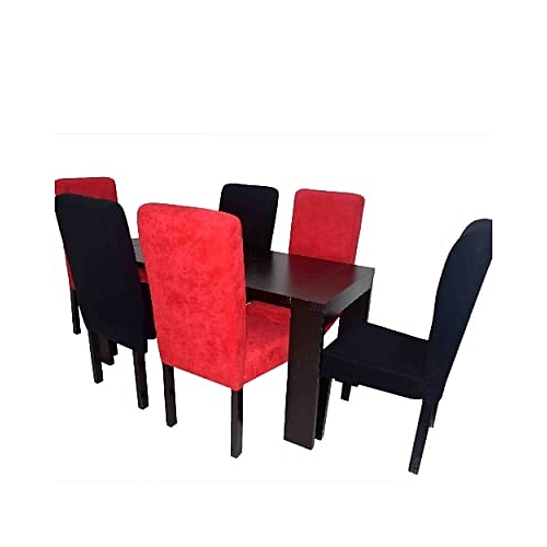 Wooden Dining Table And Chairs - 7Pieces(Delivery Within Lagos & Ogun Only)