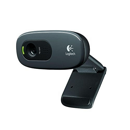 HD Webcam C270 With 3mp Camera- Black