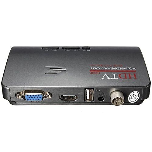 Digital Terrestrial HDMI 1080P DVB-T T2 TV Box VGA AV CVBS Tuner Receiver Remote US