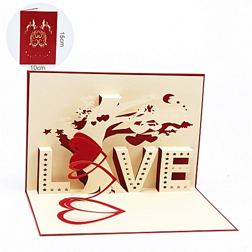 Buy generic 3d pop up cards valentine lover happy birthday 3d pop up cards valentine lover happy birthday anniversary greeting cards m4hsunfo