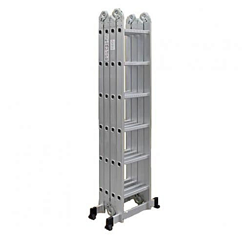 4x6 Rungs Foldable Multipurpose Aluminium Ladder With Twin Stabilizers