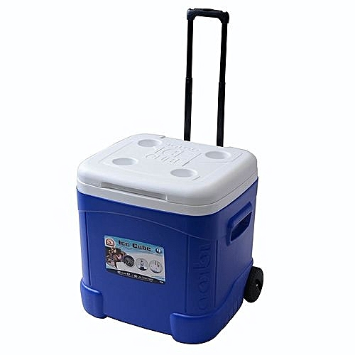 Igloo Ice Cube Roller Cooler (60-Quart, Blue)