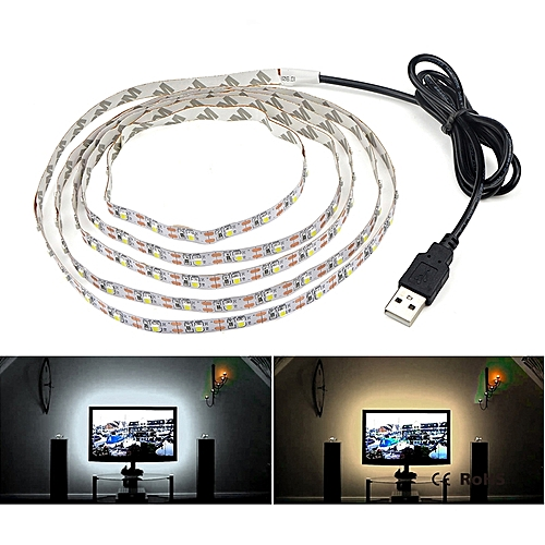 LED Light String DC5V With USB Port Cable 50CM 1M 2M 3M 4M 5M USB LED Strip Light (warm)