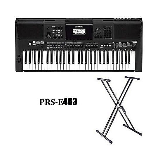 Yamaha Keyboard With Keyboard Stand And Adaptor.