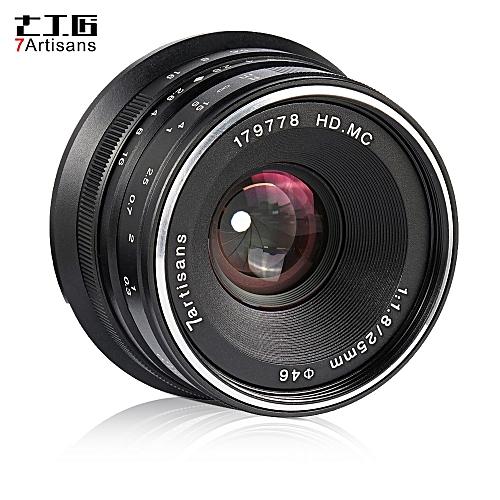 7artisans 25mm F1.8 Manual Focus Lens Large Aperture For Olympus Epm2/E-PL7/ E-PL8/E-P5/E-P6 For Panasonic G5/G6/G7/GF5/GF6/GM10/GH4/GH5 M4/3-Mount Mirrorless Cameras