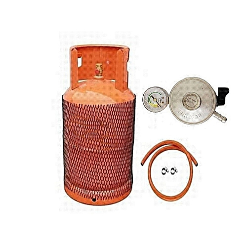12.5kg Gas Cylinder With Hose And Metered Regulator (50% Off Shipping Within Lagos)