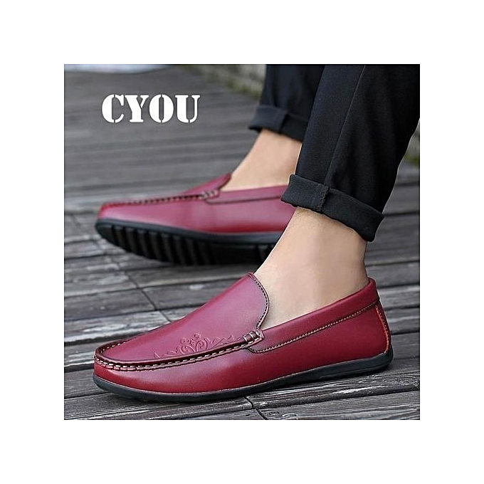2018 Men Leather Casual Shoes Handmade Breathablecomfortable Drive Loafers For Male Summer Flats