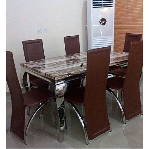 Dining Table With 6 Sitting Chairs (Lagos Delivery Only)