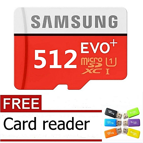512GB Calss10 Micro Memory SD Card With Adaptor-Samsung Red