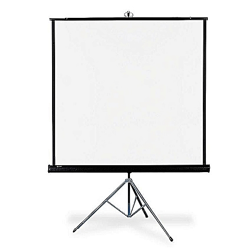 "Projector Screen 72"" X 72"" With Tripod Stand"